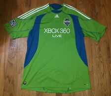 2008 Mens 2XL Seattle Sounders FC XBOX 360 Soccer Jersey MLS Rave Green Adidas