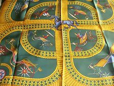 Hermes silk scarf Voitures Paniers New with box stunning! Horse Carriages