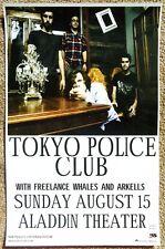TOKYO POLICE CLUB 2010 Gig POSTER Portland Oregon Concert