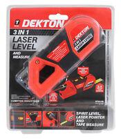 Dekton 3 In 1 Laser Level With Measure