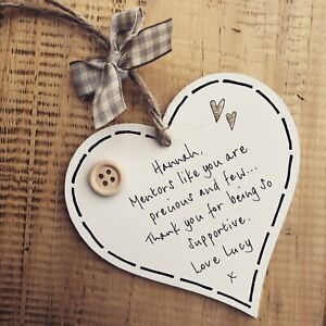 Personalised Mentor/Teacher/Midwife/Tutor/Nurse Plaque Gift Thank You Support