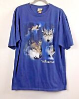 """Eco Mountain Men's Short Sleeve Pullover """"Recycled"""" T-Shirt - Blue - Size  XL"""