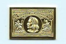 1893 United States Christopher Columbus $5 Stamp 24 Karat Gold Over Solid Silver