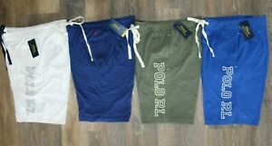 NWT Polo Ralph Lauren Men's Knit Jersey Logo Shorts Green White Royal Blue Blue