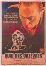 """CP affiche du film """" Quai des Orfèvres """" JOUVET Simone RENANT BLIER Suzy DELAIR"""