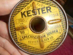 Vintage Kester Rosin Core 66 Solder .040 Diameter 3.25 lb Spool Alloy 40/60