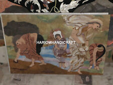 3'x2' Elegant Hand Painted Marble Table Top Inlaid Garden Decoratives H5691