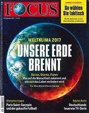 FOCUS Magazin - Heft 39/2017 - 23.9.2017: Unsere Erde brennt  +++ wie neu +++