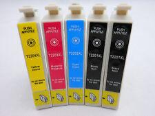 5pK T220 XL Ink for Epson Workforce 2530 2540 2630 2650 Epson XP320 XP420 XP424