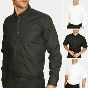 Mens Oxford Shirt Formal Office Button Down Casual Classic Work Dress Shirts Top
