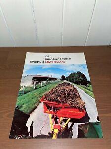 brochure prospekt PROSPECTUS EPANDEUR DE FUMIER SPERRY NEW HOLLAND 681 tracteur