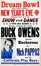 "Buck Owens 16"" x 12"" Photo Repro Concert Poster"