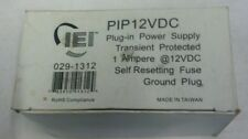 PIP12VDC - PLUG-IN POWER SUPPLY 12VDC, By iEi Electronics Linear From USA NIB