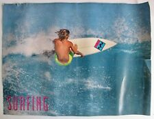 Vintage 1990 Pullout Poster Mark Occhilupo Surfing Rocky Point Billabong Surfer