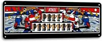 Pole Position Classic Atari Arcade Marquee Game Room Wall Decor Metal Tin Sign