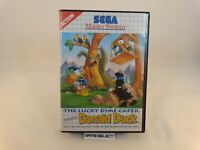 THE LUCKY DIME CAPER STARRING DONALD DUCK PAPERINO MASTER SYSTEM PAL COMPLETO