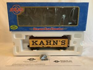 Atlas O #8044-4 Kahn's 36' Wood Reefer Car #1105 Used O Gauge 3 Rail