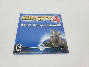 SIM City 4 Bonus Transportation CD PC Game Vintage Car Biplane Military Aircraft