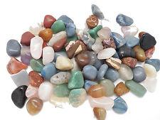 8 oz Size Large MIXED BRAZIL Bulk tumbled Stone NATURAL NO DYE  Crystal Rock Gem