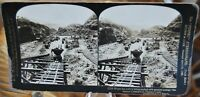 Antique Stereograph Card - Culebra Cut, Panama Canal c.1907