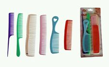 6 PACK COMB SET Multi HAIR COMB SET IN DIFFERENT SIZES AND STYLES FAMILY PACK