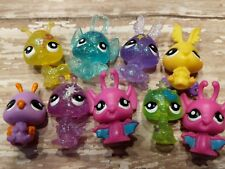 Littlest Pet Shop Pet MINI MOONDUST Fairy Sparkle Glitter Lot Glow Bug babies