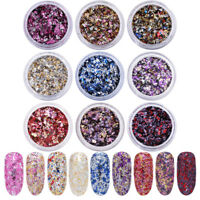 Nail Art Sequins Colorful Glitter Nail Flakes Paillette DIY Nail Art Decorations