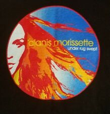 Alanis Morissette Under Rug Swept 2002 Tour Concert T-Shirt Small Per-Owned Rock