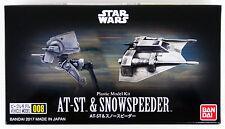 Bandai Star Wars Vehicle Model 008 AT-ST & Snowspeeder kit 156321