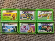 Six Leapfrog game Cartridges.