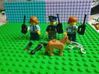 Lego Minifigure x3 Female Police Officers Mini Figures and accessories and Dog