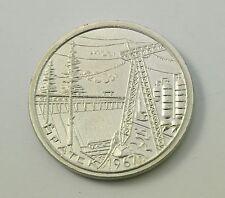 Vintage Soviet Russian Metal Desktop Medal Plaque City of Bratsk 1967