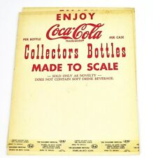 Coca Cola Coke Cartelera USA Década de 1950 - Collectors Botella Hecho to Scale