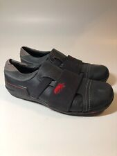 FLY LONDON Black Leather Slip On Stretch Comfort Sneakers Shoes Mens Size 10 M