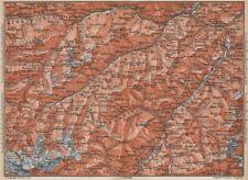SAMNAUNGRUPPE VERWALLGRUPPE Paznauntal Oberinntal St Anton Ischgl 1899 old map