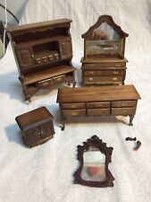 Wood Dollhouse Furniture. Some Repairs Needed