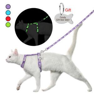 Kitten Cat Walking Harness Strap Leash Collar Adjustable Small Dog Vest for Pets