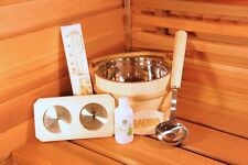 Aspen Deluxe 6 piece Wood Sauna Accessory Kit. FREE SHIPPING!