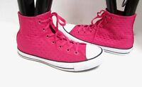 Converse All Star Chuck Taylor Quilted PINK Hi Top  Boots Sneakers Shoes RARE 8