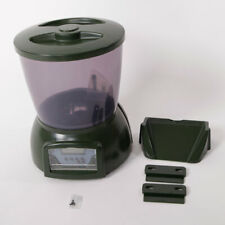 LCD Display Automatic Fish Feeder with Clock Display Olive Green PFF-01 4.25L