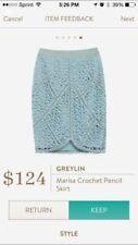GRELYIN Pencil Skirt Size Medium Strech Geometric Stitch Fix-- NWT $124
