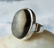 Ring Onyx Sterling Silver Vintage & Antique Jewellery