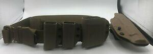 "Outdoor Cobra Gun Belt Brown 42"" with holster"