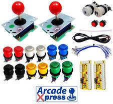 Kit Arcade Premium 2x Joysticks Seimitsu Rojos 12 botones 2 player Usb Bartop