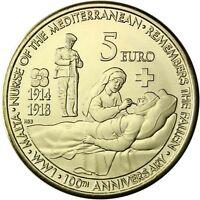 Malta 5 Euro 2014 Zum Hundertsten Jahrestag des Beginns des Ersten Weltkrieges