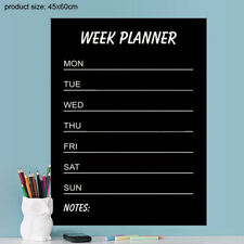 Week plan Chalkboard Label Wall Stickers for kids rooms office living room kitch