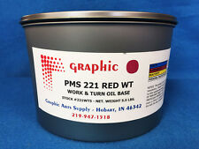 PMS 221 BORDEAUX RED OFFSET INK - WORK & TURN OIL BASE INK 1 X 5.5 LB VACUUM CAN