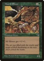 1x Muscle Sliver - Tempest Common Green Tribal - MTG NM EDH Magic - MTG_Dom