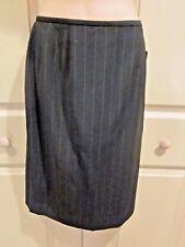 WOMENS SKIRT SIZE 4 Dana Buckman Black PINSTRIPE SLEEK Pencil Skirt NWT $168