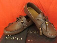 df259f4751fb33 Gucci Rafer Green Grass Waxed Leather Silver Horsebit Loafers 9 10